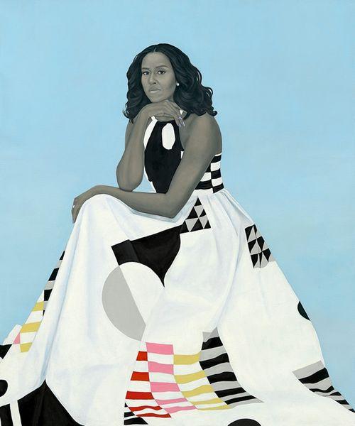 Ngắm bức chân dung chính thức của vợ chồng ông Obama - Ảnh 3