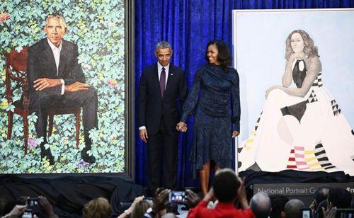 Ngắm bức chân dung chính thức của vợ chồng ông Obama - Ảnh 1