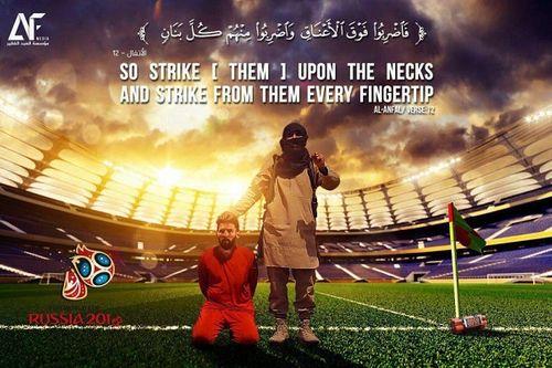 IS lại lấy hình Messi để đe dọa World Cup 2018 - Ảnh 1