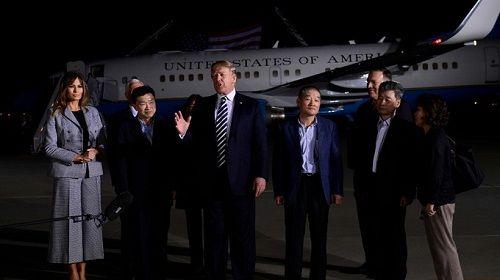 Triều Tiên thả 3 công dân Mỹ: Ông Trump 'cảm ơn ông Kim Jong-un' - Ảnh 2