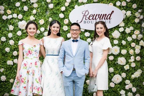 Dàn người đẹp đến mừng Hoa hậu Ngọc Hân khai trương showroom thời trang - Ảnh 7