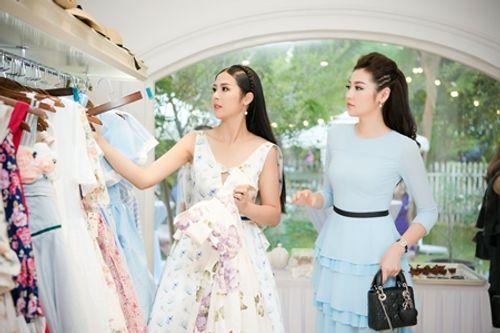 Dàn người đẹp đến mừng Hoa hậu Ngọc Hân khai trương showroom thời trang - Ảnh 5