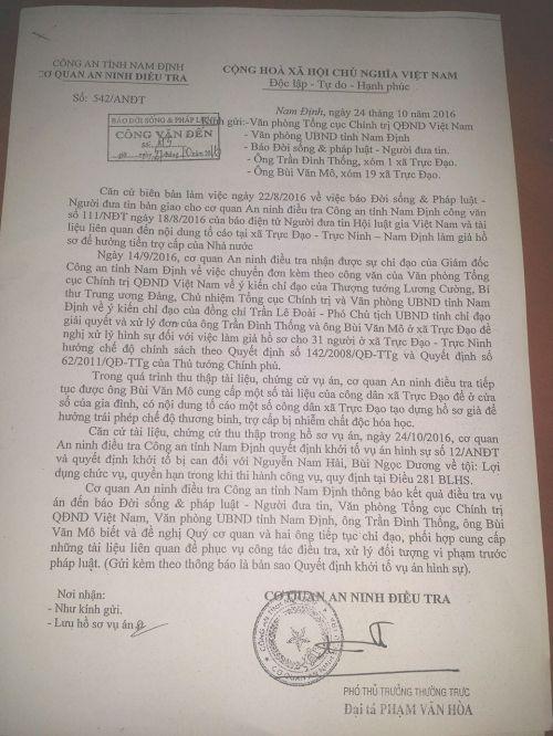 CA khởi tố vụ án sau loạt bài điều tra của báo Đời sống & Pháp luật - Ảnh 1