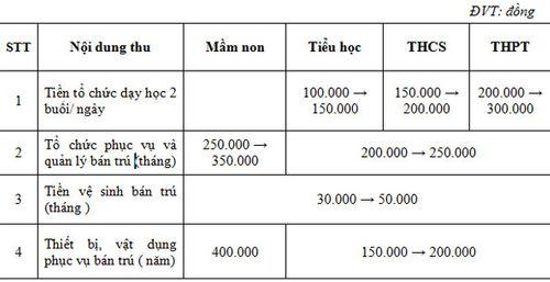 TP. Hồ Chí Minh: Phí dạy học 2 buổi/ngày thu cao nhất 300.000 đồng - Ảnh 1