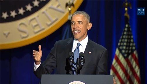 Tổng thống Barack Obama rơi nước mắt khi phát biểu chia tay Nhà Trắng - Ảnh 6
