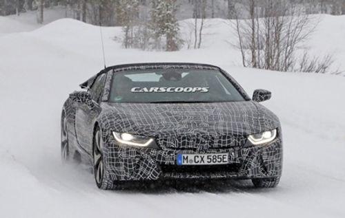 """""""Chiến mã"""" BMW i8 Spyder xuất hiện trên đường thử - Ảnh 2"""