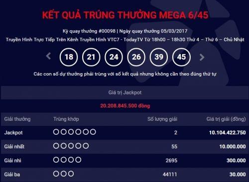 Hai người trúng xổ số Vietlott  trên 20 tỷ đồng ở Quảng Ninh và Đồng Nai - Ảnh 1