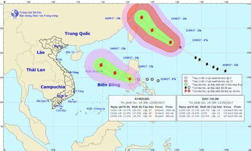 Dự báo thời tiết ngày 13/9: Bão số 10 tiến vào Biển Đông - Ảnh 1