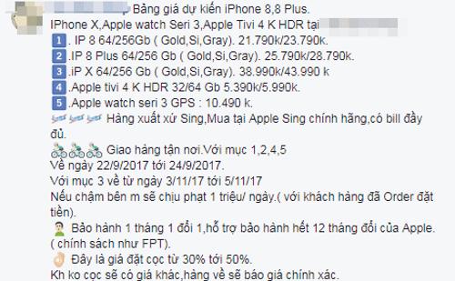 Giá iPhone X lến đến 44 triệu đồng - Ảnh 4