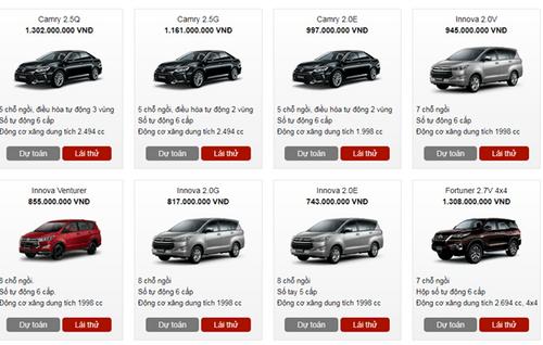 Bảng giá xe Toyota mới nhất tháng 1/2018 tại Việt Nam - Ảnh 2