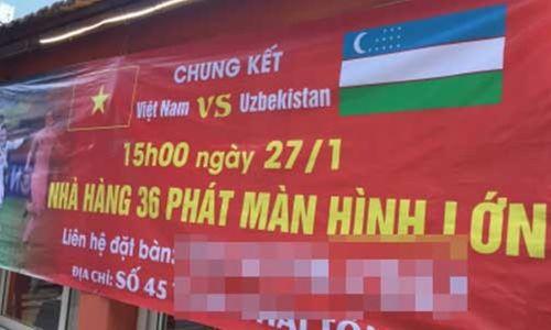 """Nhà hàng, quán bia """"cháy"""" chỗ ngồi xem chung kết U23 Việt Nam  - Ảnh 1"""