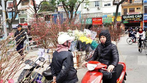 Người Hà Nội nườm nượp xuống phố mua đào, quất về chơi Tết Mậu Tuất - Ảnh 3