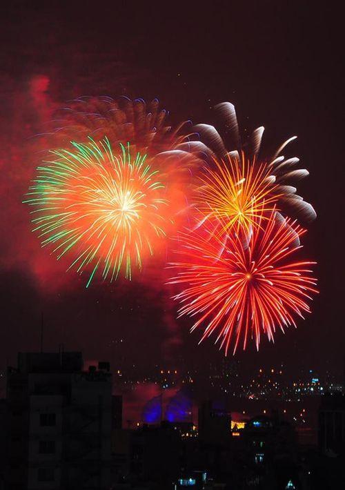 Ngắm màn pháo hoa rực sáng mừng năm mới trên cả nước - Ảnh 2