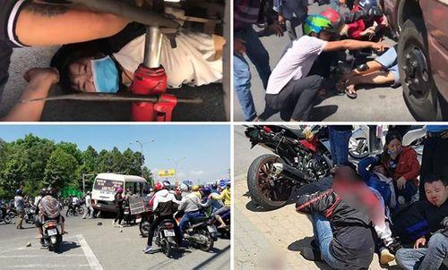 Lời khai của tài xế xe khách tông hàng loạt xe máy tại Bình Dương - Ảnh 1