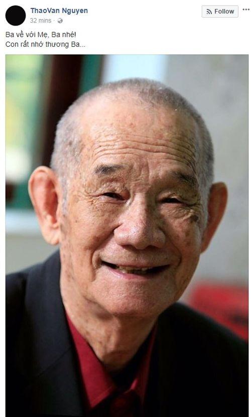 Nhiều nghệ sỹ gửi lời chia buồn khi bố MC Thảo Vân qua đời - Ảnh 1