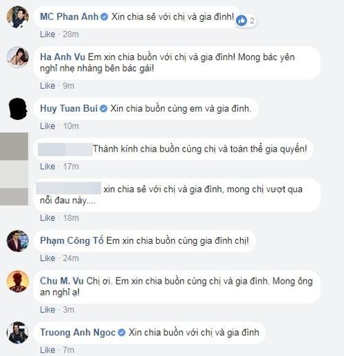 Nhiều nghệ sỹ gửi lời chia buồn khi bố MC Thảo Vân qua đời - Ảnh 2