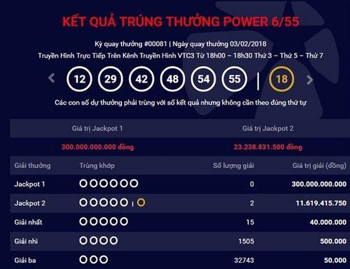 Hai vé trúng giải Jackpot hơn 23 tỷ đồng đều bán ra tại Đồng Nai - Ảnh 1