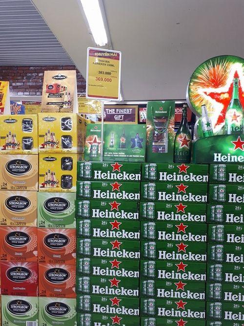 Big C lại quy định khách chỉ mua 5 thùng bia mỗi ngày dịp cận Tết - Ảnh 1