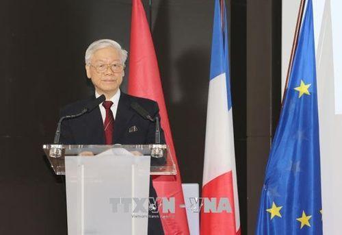 Tổng Bí thư Nguyễn Phú Trọng: Mong doanh nghiệp Pháp thành công tại Việt Nam - Ảnh 1