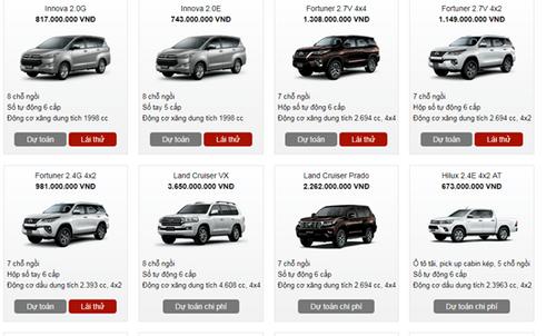 Bảng giá xe Toyota mới nhất tháng 3/2018 tại Việt Nam - Ảnh 3