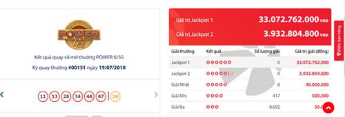 Kết quả xổ số Vietlott hôm nay 19/7/2018: Hé lộ bộ số trúng Jackpot 33 tỷ - Ảnh 1