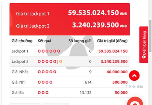 Kết quả xổ số Vietlott hôm nay 20/9/2018: Jackpot hơn 59 tỷ có tìm được chủ nhân? - Ảnh 2