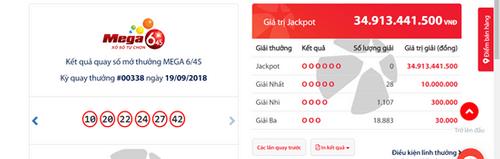 """Kết quả xổ số Vietlott hôm nay 19/9/2018: Hé lộ """"mật mã"""" của Jackpot hơn 34 tỷ  - Ảnh 1"""