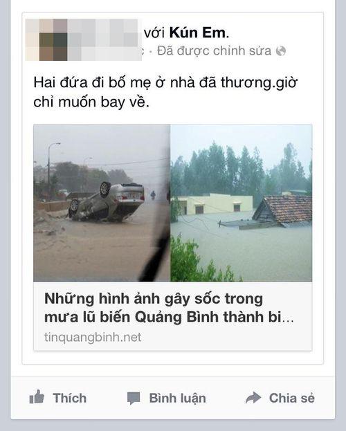 Dân mạng xót thương cư dân miền Trung oằn mình trong lũ lụt - Ảnh 4