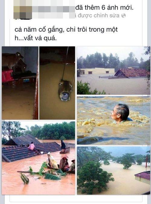 Dân mạng xót thương cư dân miền Trung oằn mình trong lũ lụt - Ảnh 5