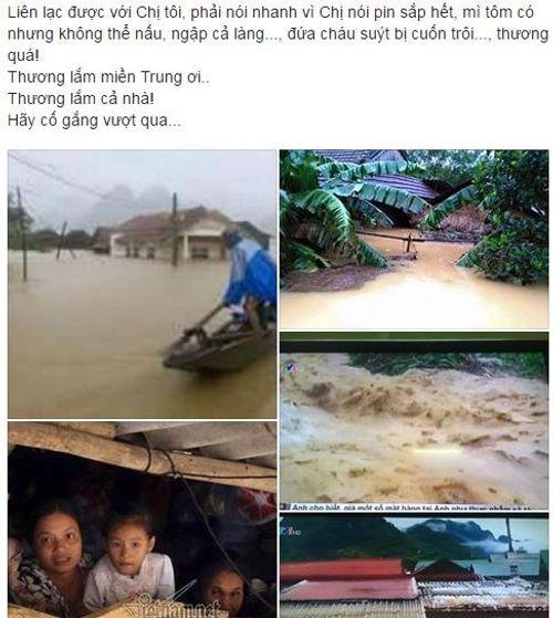 Dân mạng xót thương cư dân miền Trung oằn mình trong lũ lụt - Ảnh 8