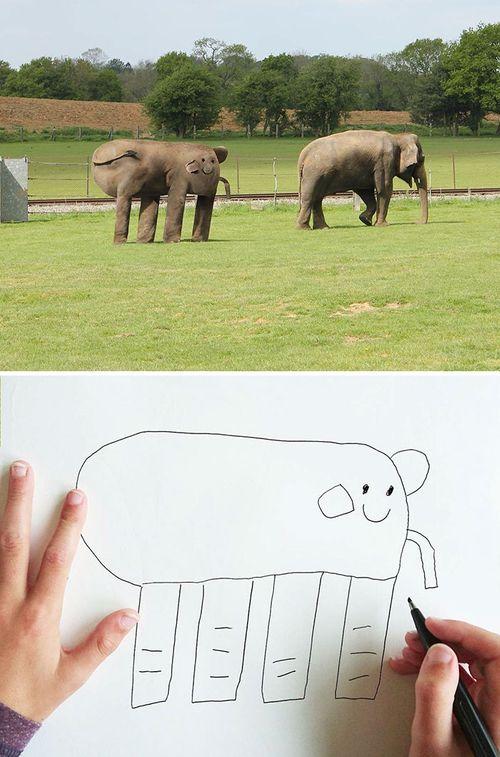 Bố hóa bản vẽ của con thành phiên bản thực tế vô cùng hài hước - Ảnh 2