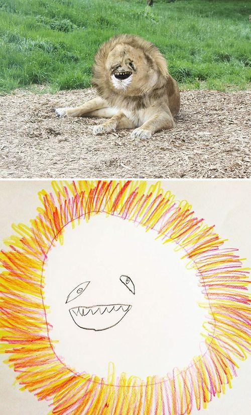 Bố hóa bản vẽ của con thành phiên bản thực tế vô cùng hài hước - Ảnh 1