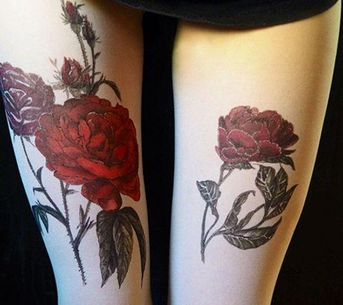 """Bộ sưu tập """"vớ Tattoo"""" tạo dáng cho đôi chân cá tính hơn - Ảnh 9"""