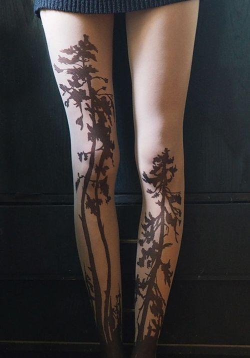 """Bộ sưu tập """"vớ Tattoo"""" tạo dáng cho đôi chân cá tính hơn - Ảnh 2"""