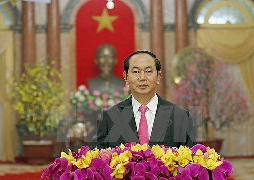 Chủ tịch nước Trần Đại Quang chúc Tết Mậu Tuất 2018 - Ảnh 1