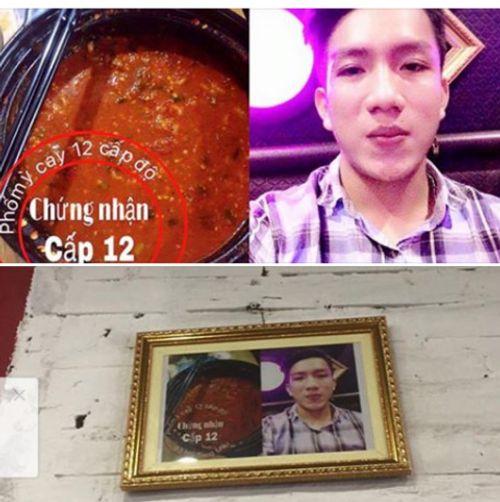 Xôn xao chàng trai ăn mỳ cay cấp độ 12 ở xứ Nghệ - Ảnh 1