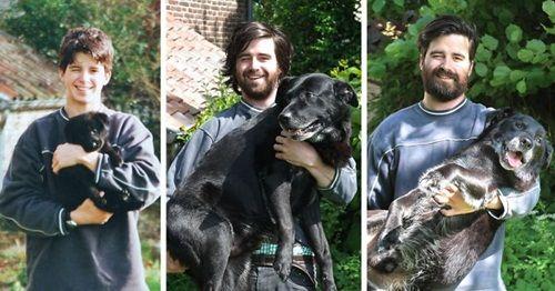 Cảm động chùm ảnh những chú chó và chủ cùng nhau lớn lên - Ảnh 4