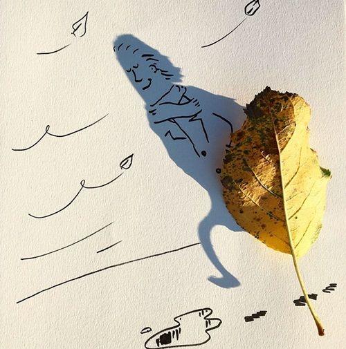Nghệ sĩ vẽ tranh nghệ thuật từ những… chiếc bóng khiến nhiều người 'tròn mắt' - Ảnh 7