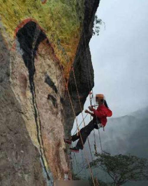 Cô gái đu dây vẽ chân dung bạn trai lên núi để tỏ tình - Ảnh 2