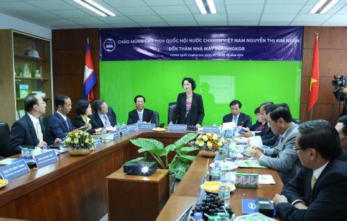 Đoàn đại biểu quốc hội VN thăm nhà máy sữa Angkor của Vinamilk - Ảnh 5