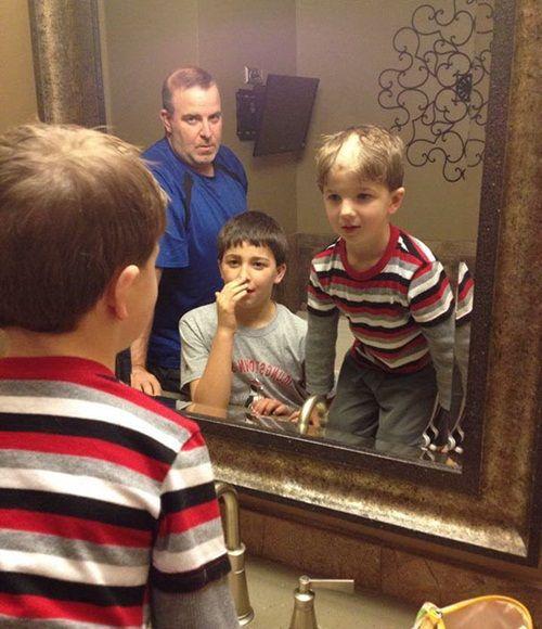 Khi trẻ em nghịch tông đơ cắt tóc của bố - Ảnh 7
