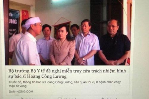 """Bác tin """"Bộ trưởng Y tế xin tha tội cho BS Hoàng Công Lương"""" - Ảnh 1"""
