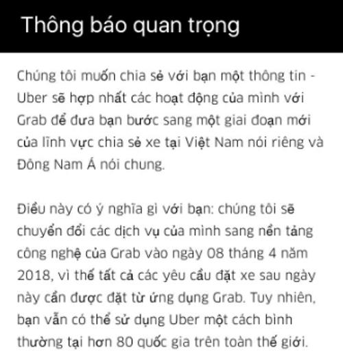 """Người Việt nuối tiếc Uber, sợ Grab """"độc cô cầu bại"""" - Ảnh 1"""