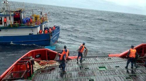 Hành trình vượt sóng dữ cứu nạn 8 thuyền viên lênh đênh trên biển - Ảnh 1