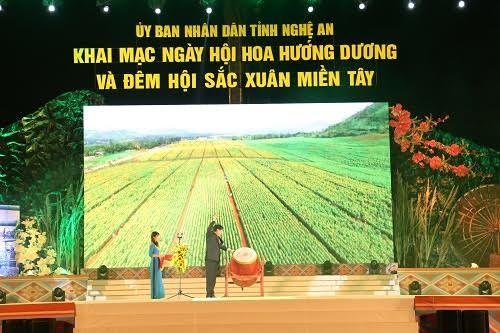 Tưng bừng Ngày hội hoa hướng dương và Đêm hội sắc xuân miền Tây ở Nghệ An - Ảnh 3