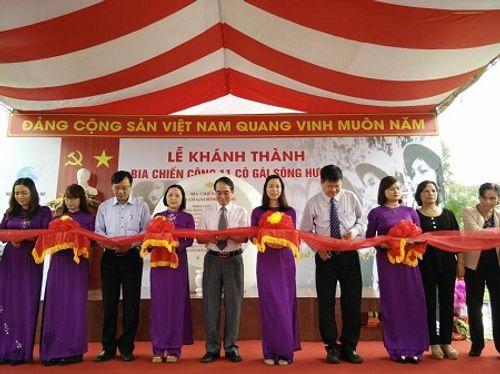 Thừa Thiên - Huế khánh thành Bia chiến công 11 cô gái sông Hương - Ảnh 1