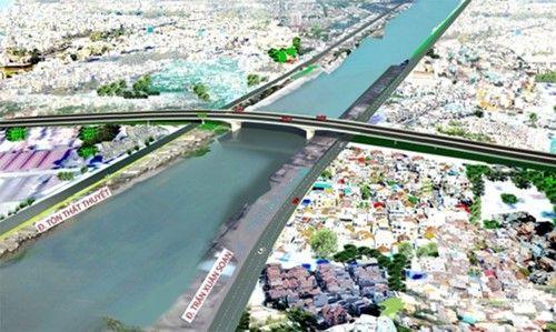 1.250 tỷ đồng xây cầu từ Nam Sài Gòn vào trung tâm - Ảnh 1