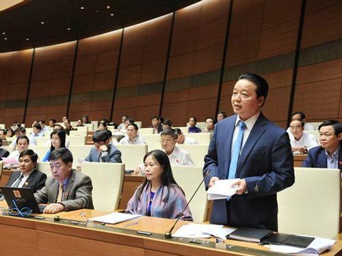 Bộ trưởng Bộ Tài nguyên và Môi trường Trần Hồng Hà trả lời chất vấn - Ảnh 1