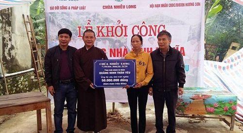 Báo ĐS&PL phối hợp xây dựng thêm nhà tình nghĩa tại Hà Tĩnh - Ảnh 1