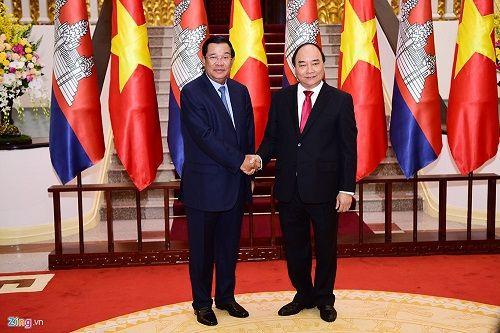 Lễ đón Thủ tướng Campuchia Hun Sen tại Hà Nội - Ảnh 7